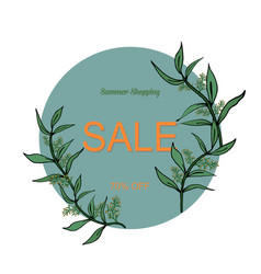 sale card natural tree branches botanical vector image
