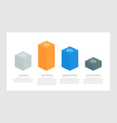 set gray and blue orange elements for vector image