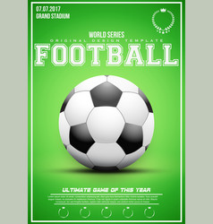 Sporting poster of football vector