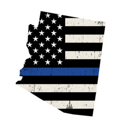 State arizona police support flag vector