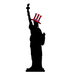 statue of liberty in uncle sam hat vector image