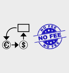stroke currency conversion scheme icon and vector image