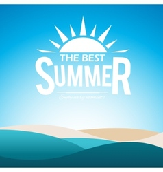 Summer poster vector image