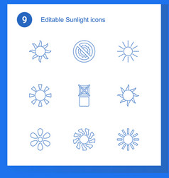 sunlight icons vector image