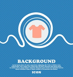 T-shirt clothes sign icon blue and white abstract vector
