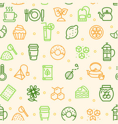 tea ceremony seamless pattern background vector image