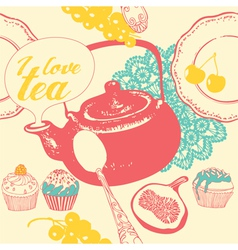 Tea Time Pattern vector