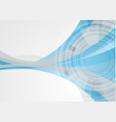 tech abstract corporate wavy background vector image vector image