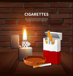 Tobacco realistic poster vector