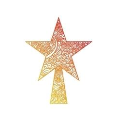 Toys on christmas tree - star vector image