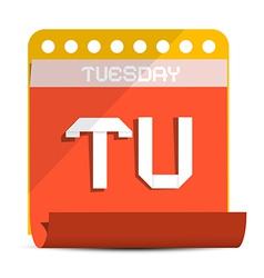 Tuesday paper calendar vector