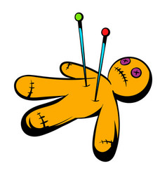 voodoo doll icon icon cartoon vector image