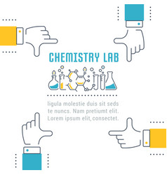 Website banner and landing page chemistry lab vector