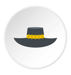 Woman hat icon circle vector