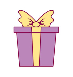 wrapped gift box bow vector image