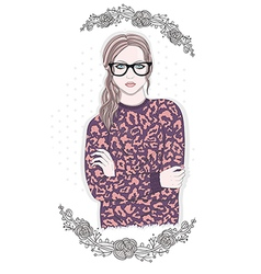 Young fashion girl vector