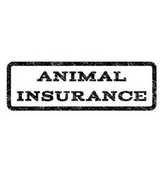animal insurance watermark stamp vector image vector image