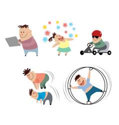 children in action vector image