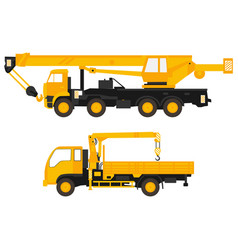 flat of set crane vector image vector image
