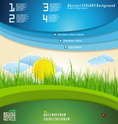Modern nature Design template vector image