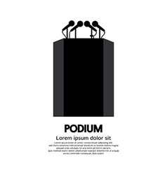 Podium vector image vector image