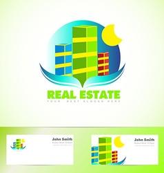 Real estate logo icon vector image vector image