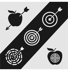 Right on target vector image