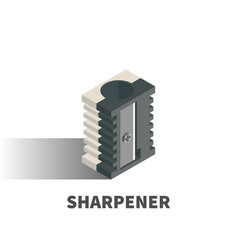 sharpener icon symbol vector image vector image