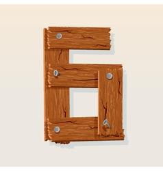 wooden type 6 vector image