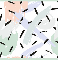 abstract seamless pattern with brush strokes vector image vector image