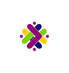 abstract shape arrow color logo vector image vector image