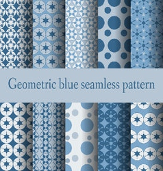 geometric blue seamless pattern - vector image vector image