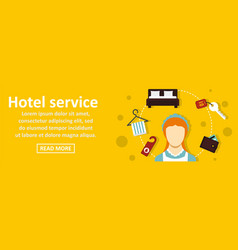 hotel service banner horizontal concept vector image vector image