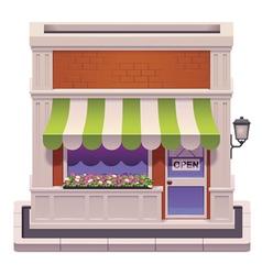 small shop icon vector image vector image
