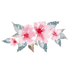 Spring flowers watercolor vector image