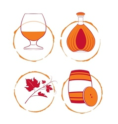 The cognac set vector image