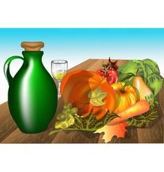 autumn table vector image vector image