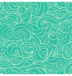 Blue waving curls similar to winter frosty window vector image vector image