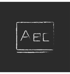 Letters abc on the blackboard icon drawn in chalk vector