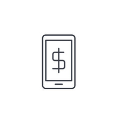 mobile payment internet banking web pay thin line vector image