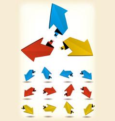 motion arrows set vector image
