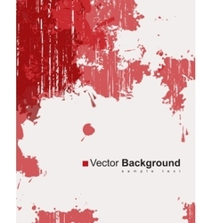 red ink splashes vector image
