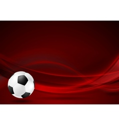 Red wavy football background vector image