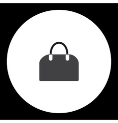 Simple ladies handbag isolated black icon eps10 vector