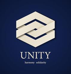 unity paper icon design template vector image vector image