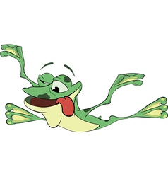 A green frog Cartoon vector image
