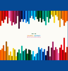 abstract colorful stripe line background vector image