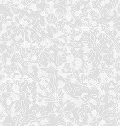 abstract seamless texture with a floral circuit vector image