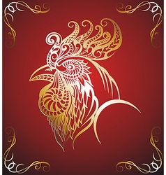 Art stylized rooster vector image