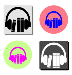 audio guide flat icon vector image
